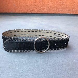 Accessories - Black suede leather belt