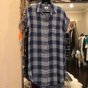 Old navy Plaid high low dress