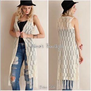Boutique Tops - Boho chic knit vests