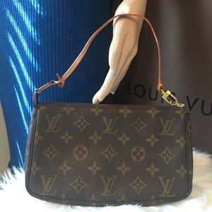 Authentic LV pochette monogram pouch