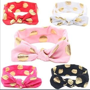 A Dream Come True Other - ✅JUST IN✅ Baby Girl Polka Dot Headbands