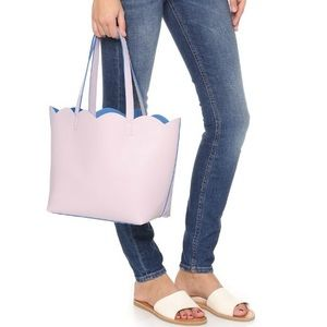 Deux Lux Handbags - Deux Lux Scalloped Leyla Small Tote