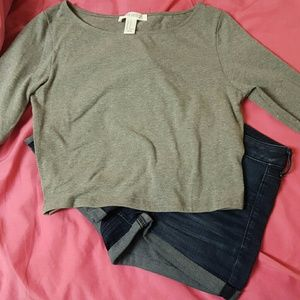 Forever 21 Long-Sleeved Crop Top