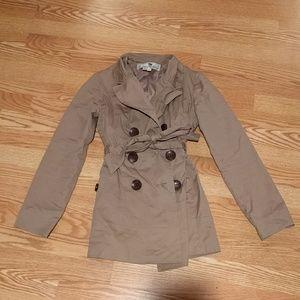 Jo-Jo Jackets & Blazers - Jojo Khaki Tan S Small Trench Coat Short Length