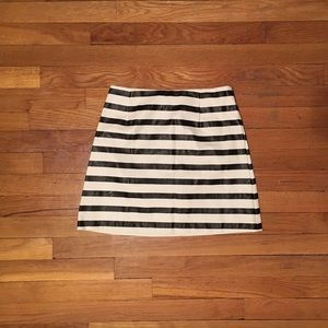 Minkpink faux leather striped shirt, XS