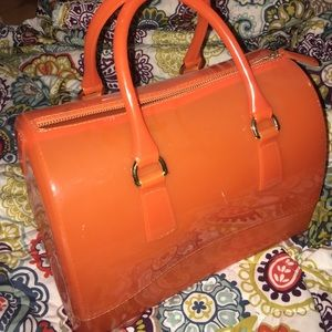 Orange jelly bag