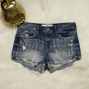 Hollister Pants - Hollister High Rise Distressed Denim Shorts