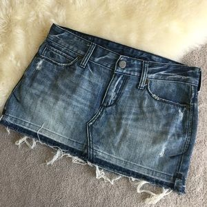 Abercrombie & Fitch Dresses & Skirts - Abercrombie & fitch jeans skirt