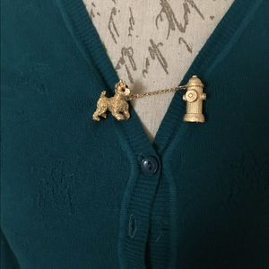 Accessories - Vintage Chatelaine Sweater Brooch Scotty Dog