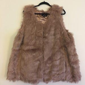 Plus size Boho Festival Faux Fur Vest 3x xxxl