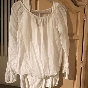 Tops - REDUCED!!💯Silk Blouse w/ built-in Stretch Tank