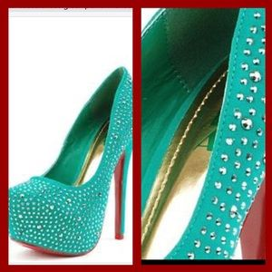 Alba Shoes - Baccarat Rhinestone Hidden Platform Stiletto Heel