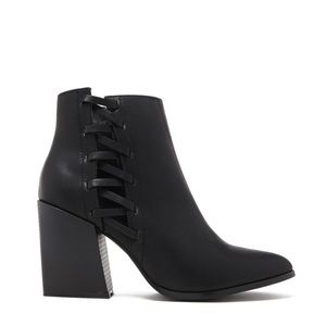 Black Cut out Booties