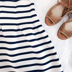 GAP Dresses & Skirts - Gap Striped Navy/Off White Pleated Dress