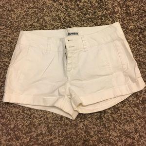 Express White Shorts (Size 2)
