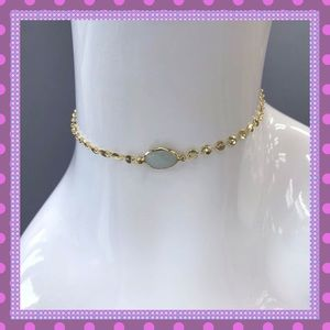 Boutique Jewelry - ☀️Gold Choker With A Single Mint Stone☀️