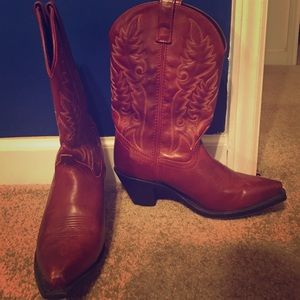 Laredo Shoes - Red Cowboy Boots Size 9