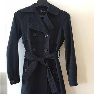Kenneth Cole Black Trench Coat