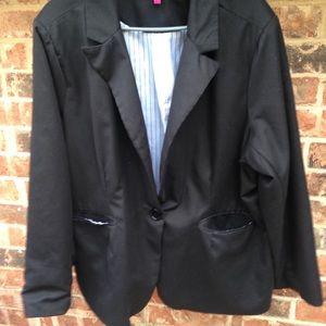 New Look black blazer 3X
