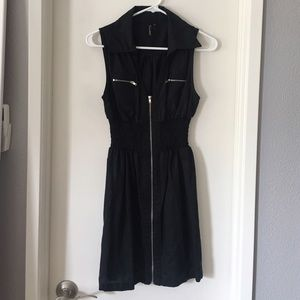 Foreign Exchange Dresses & Skirts - Foreign Exchange Sleeveless Black Zipper Dress