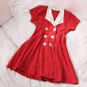 Vintage 70s Button-Front Dress
