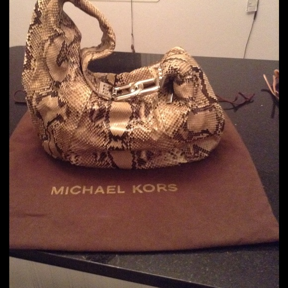 68d2284182e9 Michael Kors Bags | Suzy Collection Hobo 100 Python | Poshmark