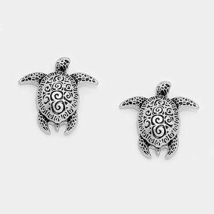 goodchic Jewelry - Embossed Turtle Studs