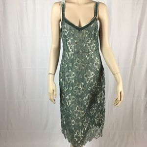 Anthropologie Dresses & Skirts - Anthropologie Lithe Sage Green Lace Dress
