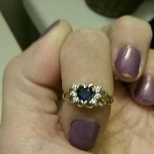 Kay Jewelers Jewelry - SALE🚨Heart  sapphire  diamond 14k gold ring,🚨