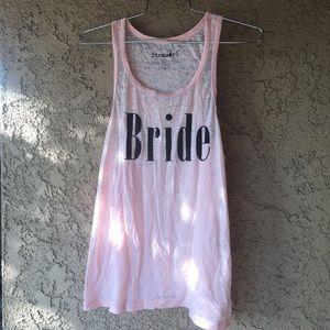 Stranded Tops - Blush pink Bride tank top