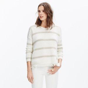 Madewell Striped Fringe-Edge Sweater