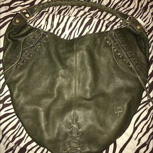 Linea Pelle Handbags - Linea Pelle NWT Olive Leather Large Handbag
