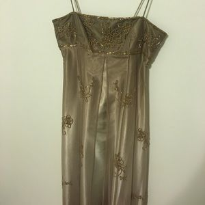 Morgan & Co. Dresses & Skirts - Beaded gold/olive gown