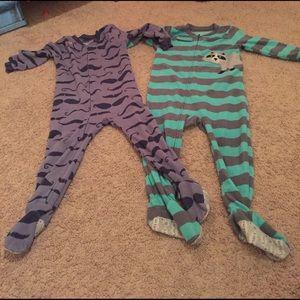 Other - Carters Fleece footie pajamas 2T