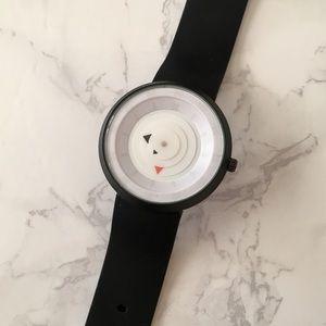UO Unisex White Face Arrow Watch
