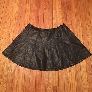 Forever 21 Dresses & Skirts - Forever 21 Plus Faux Leather Skater Skirt