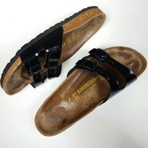 Birkenstock Shoes - Birkenstock Patent Double Strap Adjustable Sandals