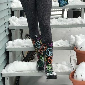Rainbow Peace Rain Boots