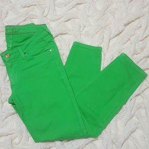 kate spade Denim - Kate Spade Green Skinny Jeans Size 27