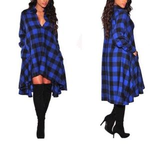Dresses & Skirts - New plaid shirt dress