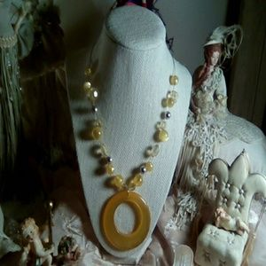 Jewelry - Yellow handmade necklace