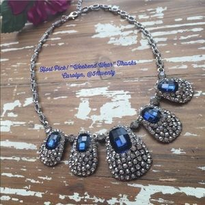 Karen1177 Jewelry - Just In ☄️Royal Blue Statement Necklace☄️