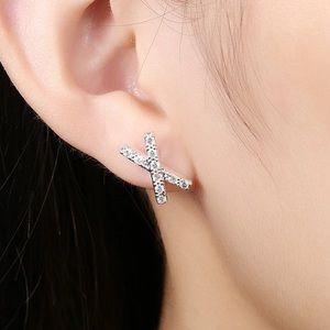 "goodchic Jewelry - Pave ""X"" Studs"