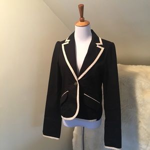 Sanctuary Jackets & Blazers - Sanctuary White Trimmed Black Blazer