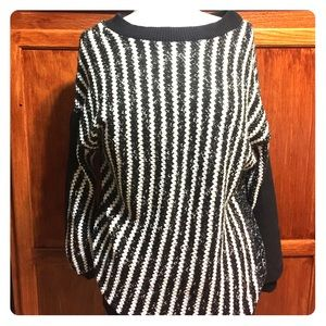Zara striped oversized sweater