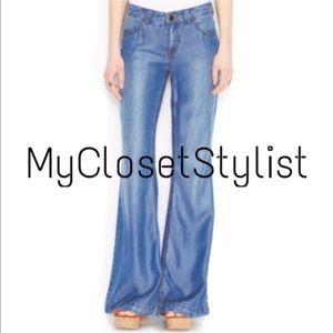 Free People Denim - 🆕Free People NWT$128Tencel Denim Flare Jeans28NEW