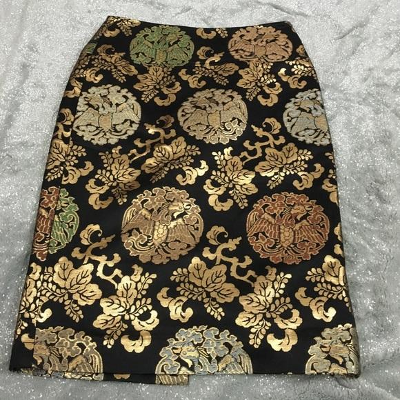 Ralph Lauren Black label skirt brocade