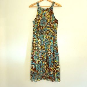 Evan Picone Dresses & Skirts - Turquoise and Brown Dress