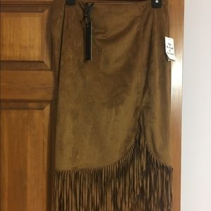 i jeans by Buffalo Dresses & Skirts - NWT i Jeans by Buffalo Faux Suede Fringed Skirt