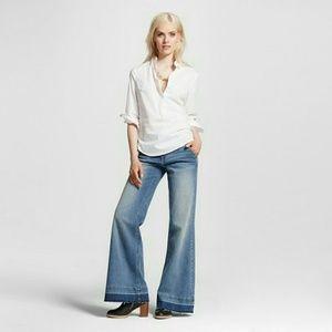 Mossimo Supply Co. Denim - Boho High Rise Wide Leg Released Hem Jeans, NWT